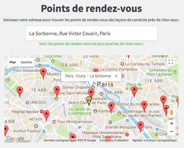 point de rendez-vous